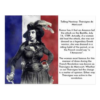Carte Postale Révolutionnaire de Théroigne de Méricourt French