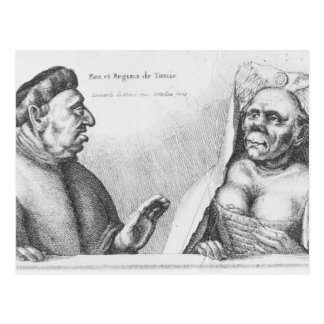 Carte Postale Rex et Regina De Tunis
