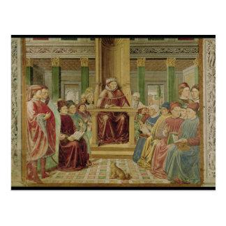 Carte Postale Rhétorique de lecture de St Augustine
