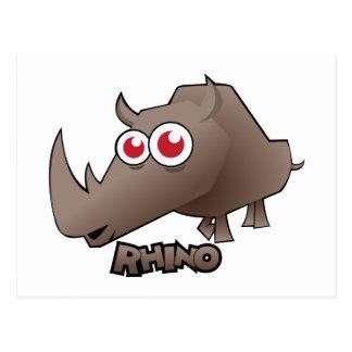 Carte Postale Rhinocéros mignon