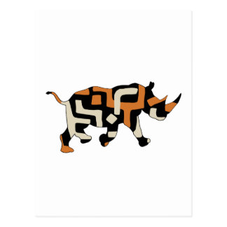 Carte Postale Rhinocéros noir de ratés de dronte (espèce