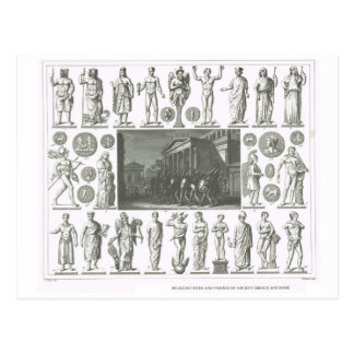 Carte Postale Rites religieux de la Grèce et de Rome