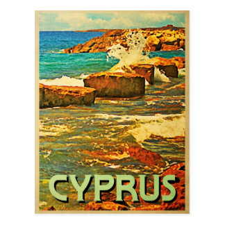 Carte Postale Rivage rocheux de la Chypre