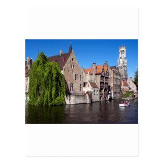 Carte Postale Rivière à Bruges, Belgique