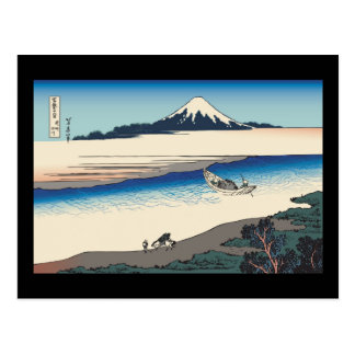 Carte Postale Rivière de Hokusai Tama dans la province de