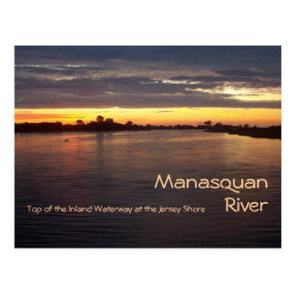 Carte Postale Rivière de Manasquan à l'aube