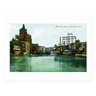 Carte Postale Rivière de Milwaukee, Milwaukee, le Wisconsin