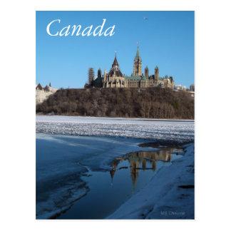 Carte Postale Rivière d'Ottawa de bâtiments du Parlement du