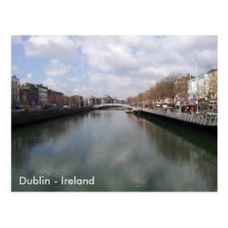 Carte Postale Rivière Liffey, ville de Dublin, Irlande