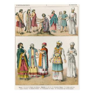 Carte Postale Robe asiatique tôt, de 'der de Trachten