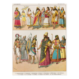 "Carte Postale Robe assyrienne, de ""der Voelker de Trachten"","