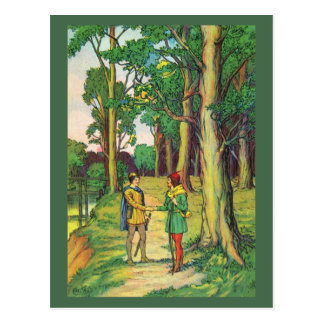 Carte Postale Robin Hood et petit John
