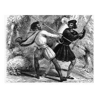 Carte Postale Robin Hood et Tanner avec des Quart-personnels