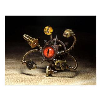 Carte Postale Robot de spectateur de Steampunk