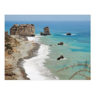 Carte Postale Roche d'Aphrodite, Chypre