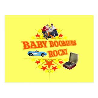 Carte Postale Roche de baby boomers