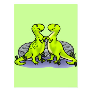 Carte Postale Roche de dinosaures !