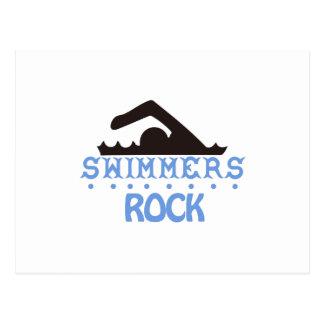 Carte Postale Roche de nageurs