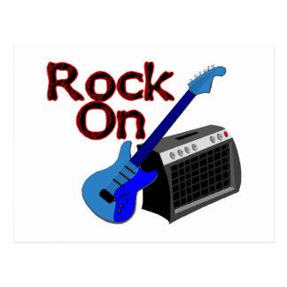 Carte Postale Roche sur la guitare et l'ampère