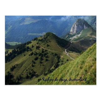 Carte Postale Rochers de Naye, Suisse