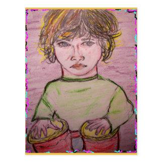 Carte Postale roches beatnik de musique de bongo