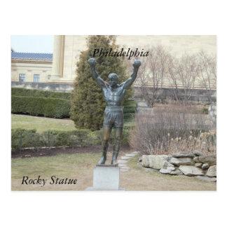 Carte postale rocheuse de statue de Philadelphie
