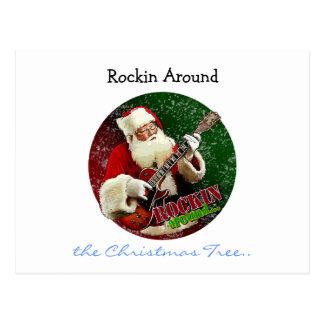 Carte Postale Rockin Père Noël