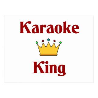 Carte Postale Roi de karaoke