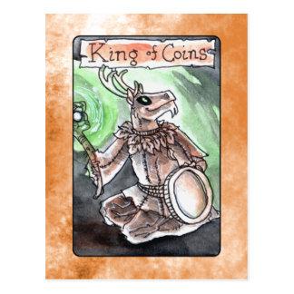Carte Postale Roi des pièces de monnaie