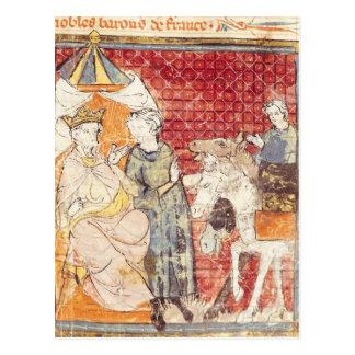 Carte Postale Roland offrant l'adieu à Charlemagne