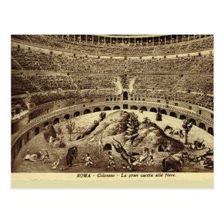 Carte Postale Rome, divertissement romain