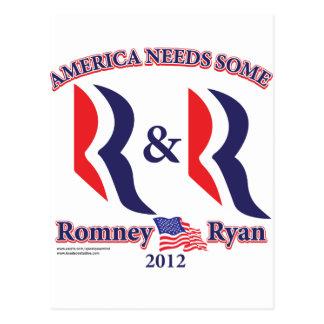 Carte Postale Romney et Ryan