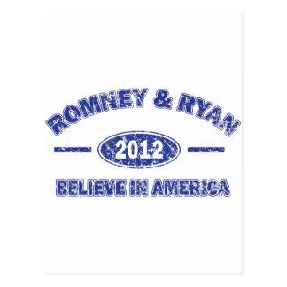 Carte Postale Romney et Ryan croient à l'Amérique