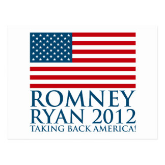 Carte Postale Romney Ryan 2012