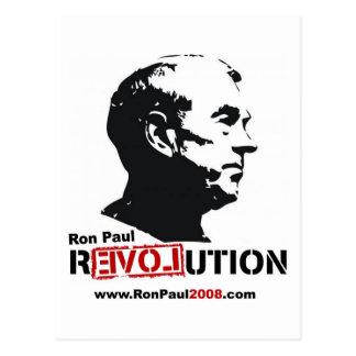 Carte Postale Ron Paul font face au pochoir - révolution