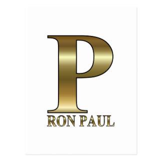 Carte Postale Ron Paul P 2012