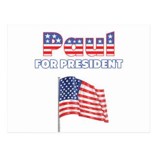 Carte Postale Ron Paul pour le drapeau américain du Président