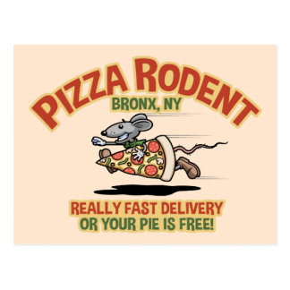 Carte Postale Rongeur de pizza