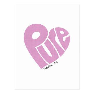 Carte Postale Rose PUR de coeur