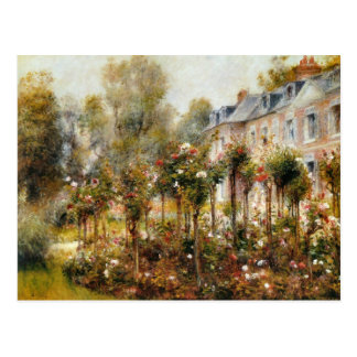 Carte Postale Roseraie Wargemont par Renoir