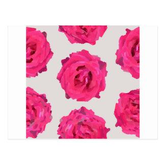 Carte Postale roses frais