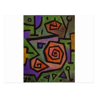 Carte Postale Roses héroïques par Paul Klee