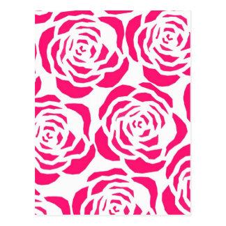Carte Postale Roses magenta modernes