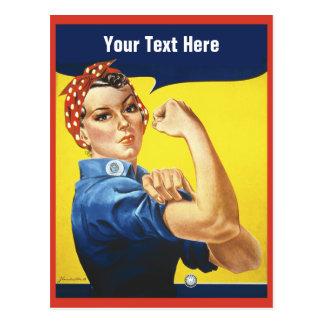 Carte Postale Rosie le rivoir avec votre texte fait sur commande