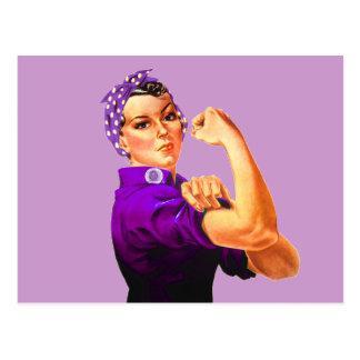 Carte Postale Rosie le rivoir - fibromyalgie pourpre