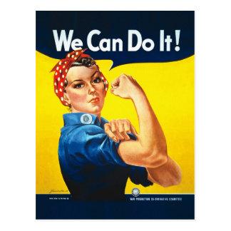 """Carte Postale Rosie le rivoir - """"nous pouvons le faire ! """""""