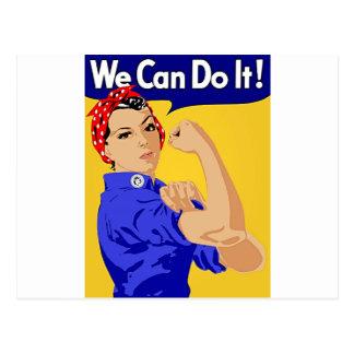 """Carte Postale Rosie le rivoir """"nous pouvons le faire"""" la"""