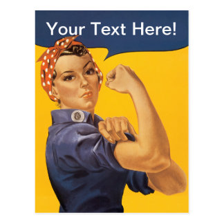 Carte Postale Rosie le rivoir nous pouvons le faire ! Votre