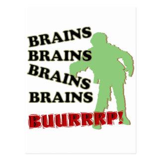 Carte Postale Rot de cerveaux de cerveaux de cerveaux de zombi !