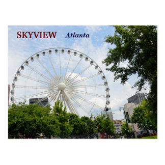 Carte Postale Roue Atlanta, la Géorgie de Skyview Ferris